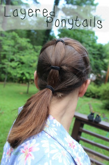 Layered Ponytails | White Lights on Wednesday