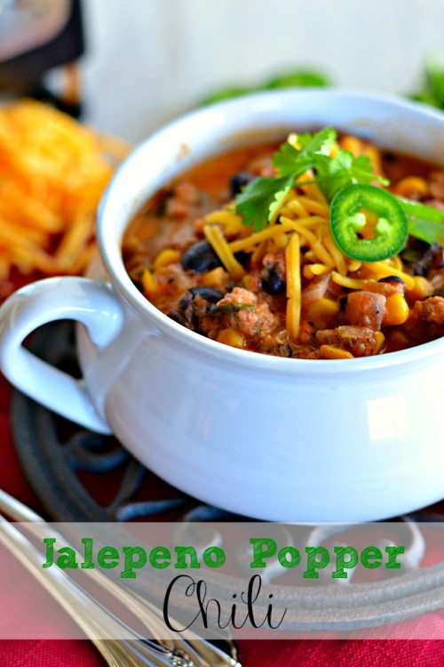 Jalepeno Popper Turkey Chili