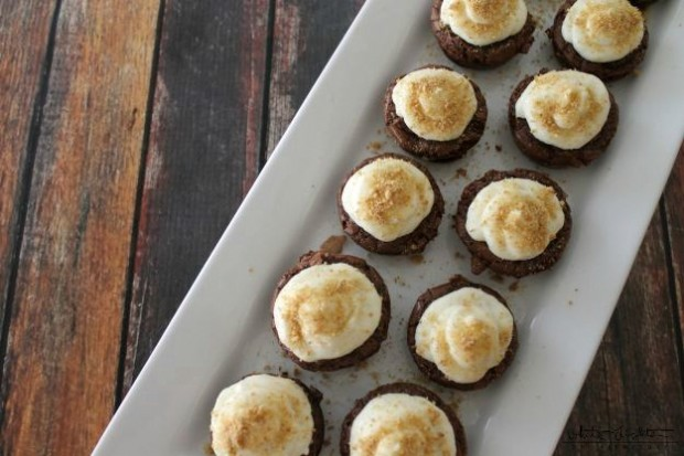 Mini S'mores Brownie Bites | White Lights on Wednesday  #smoresweek