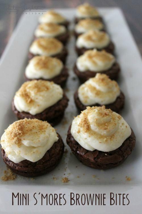 Mini S'mores Brownie Bites   White Lights on Wednesday  #smoresweek