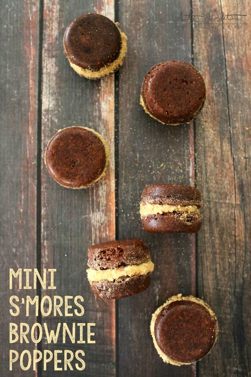 Mini S'mores Brownie Poppers | White Lights on Wednesday  #smoresweek