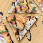 Peach and Brie Flatbread