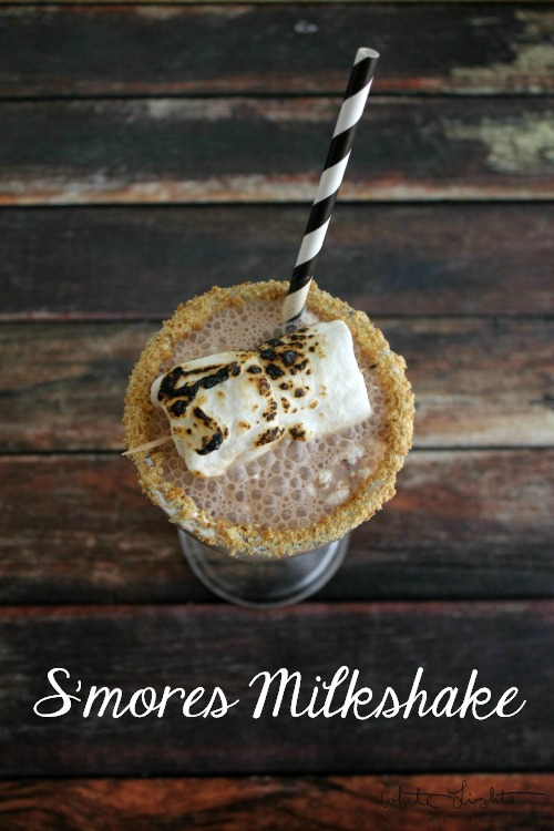 S'mores Milkshake | White Lights on Wednesday  #smoresweek