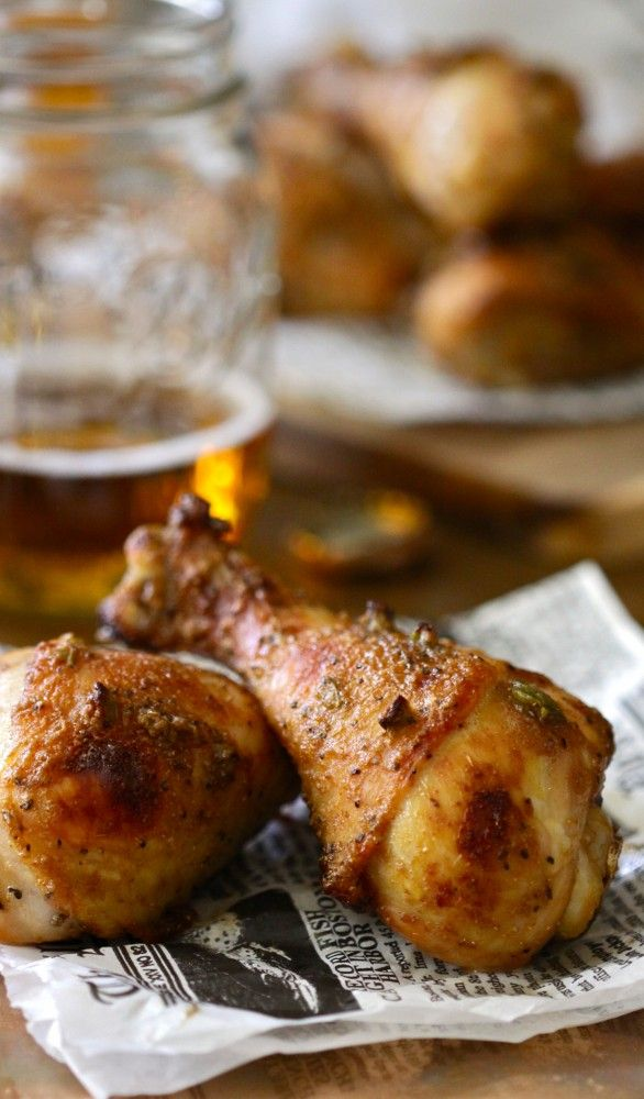 Spiced Chicken Drumsticks with Brown Sugar and Jalapeños