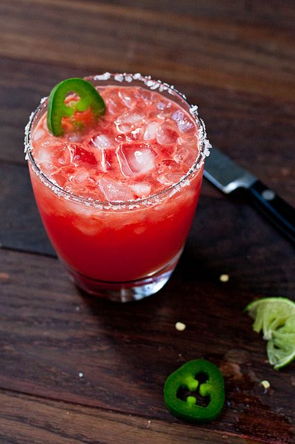 Spicy Jalapeño & Watermelon Margarita