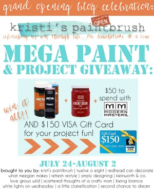 Kristi's Paintbrush Blog Grand Opening Giveaway!