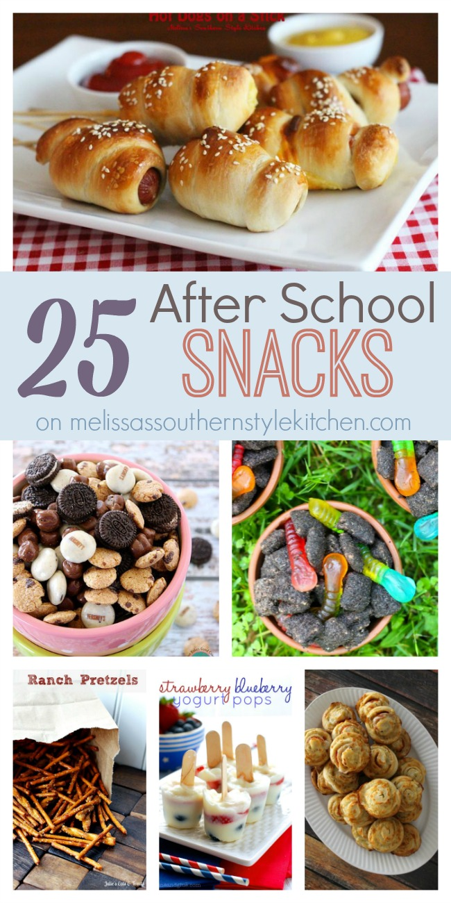 25 After School Snacks on Melissa's Southern Style Kitchen