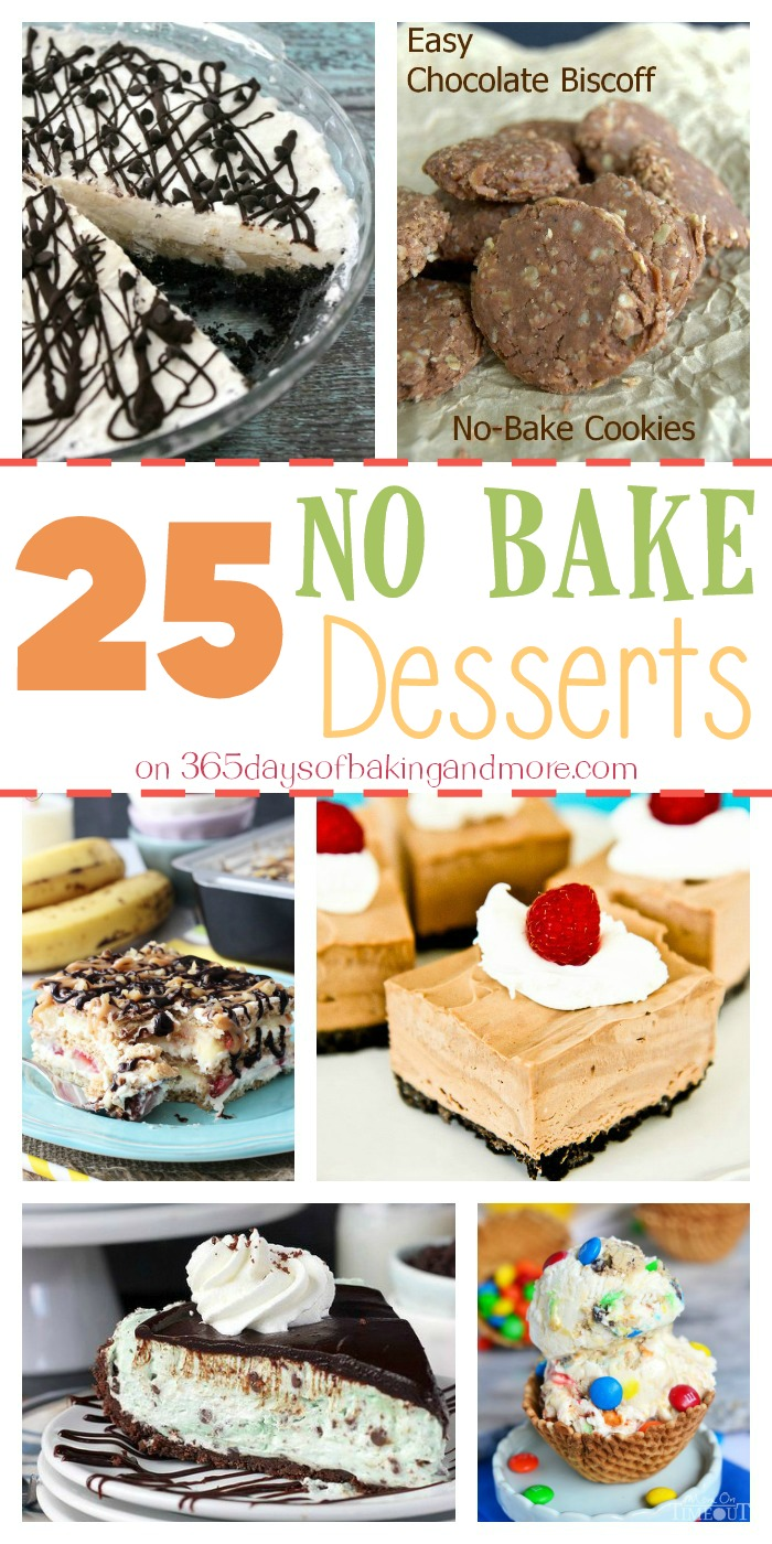 25 No Bake Desserts on 365 Days of Baking