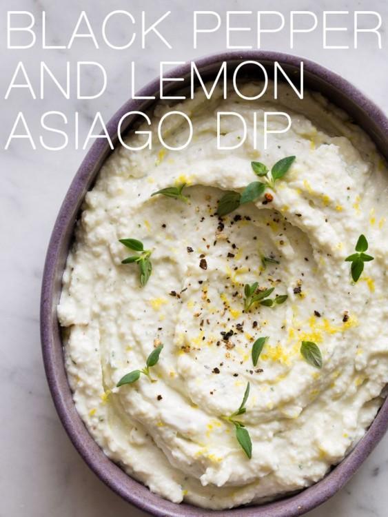 50 Delicious Dips: Black Pepper and Lemon Asiago Dip