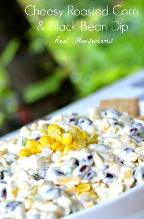 50 Delicious Dips: Cheesy Roasted Corn and Black Bean Dip