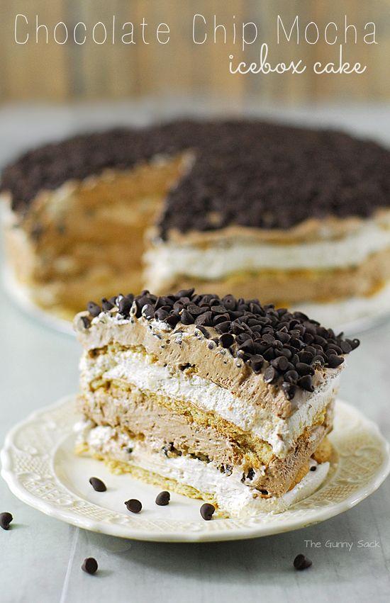 Chocolate Chip Mocha Icebox Cake