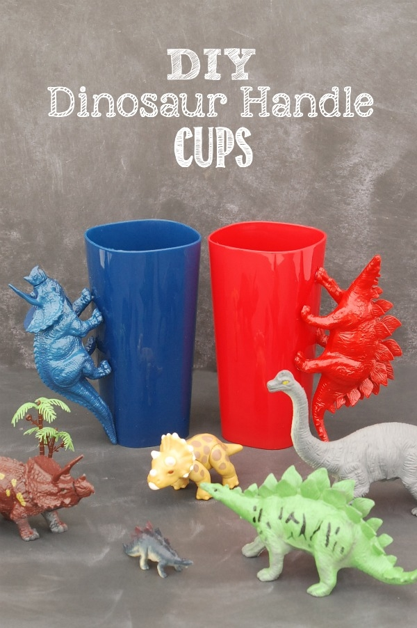 These DIY Dinosaur Handle Cups are an easy to make project that your kids will love for years to come!