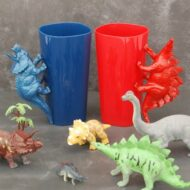 DIY Dinosaur Handle Cups