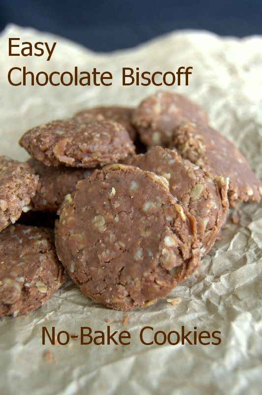 Easy Chocolate Biscoff No-Bake Cookies