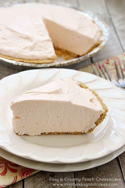 Easy & Creamy Peach Cheesecake