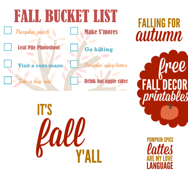 It's Fall, Y'all! Fall Home Decor Printables | White Lights on Wednesday