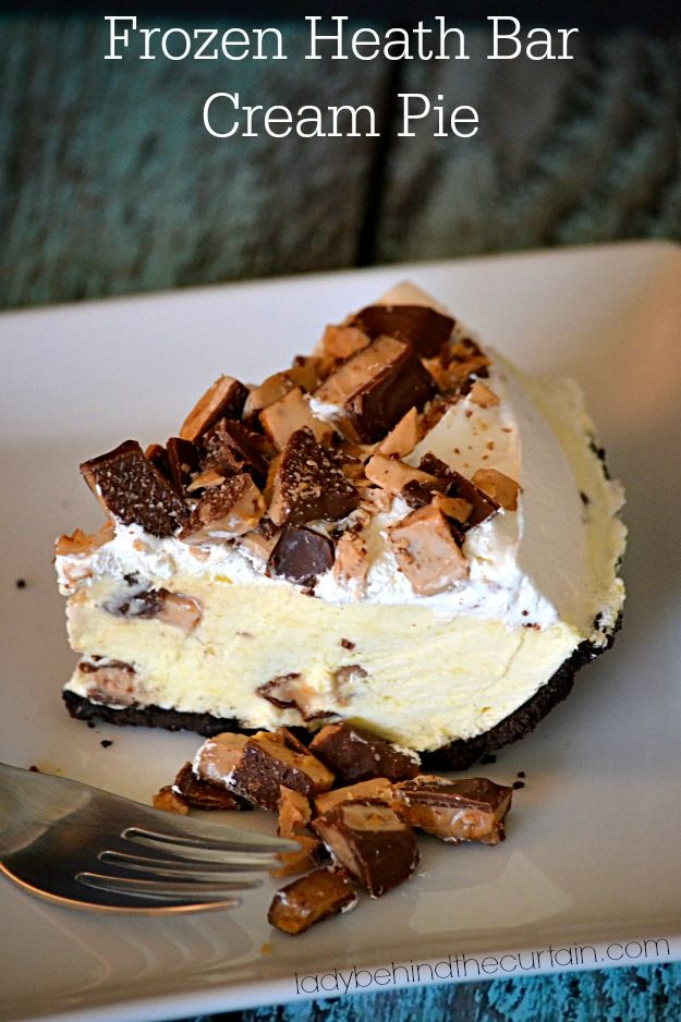 Frozen Heath Bar Cream Pie