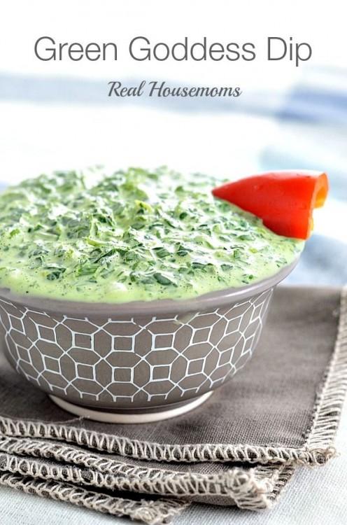 50 Delicious Dips: Green Goddess Dip