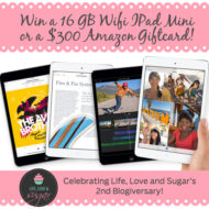 Life, Love & Sugar 2nd Blogiversary iPad Mini Giveaway!