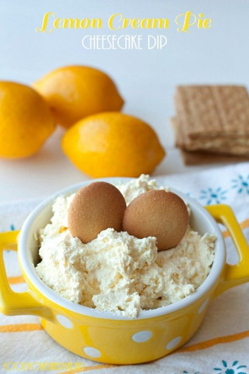 50 Delicious Dips: Lemon Cream Pie Cheesecake Dip