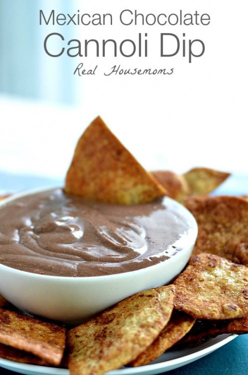 50 Delicious Dips: Mexican Chocolate Cannoli Dip