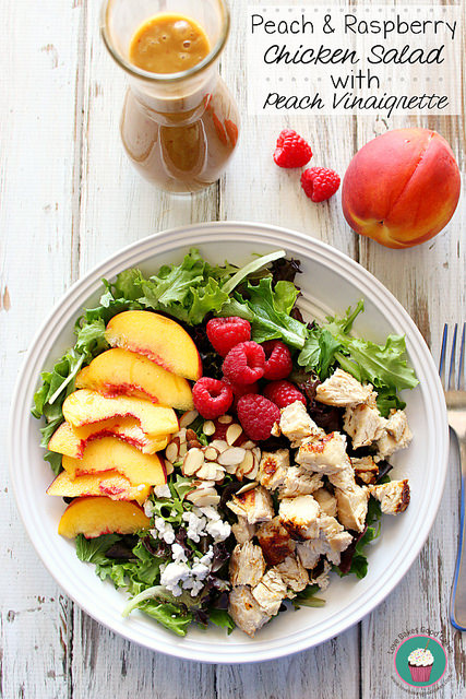 Peach & Raspberry Chicken Salad