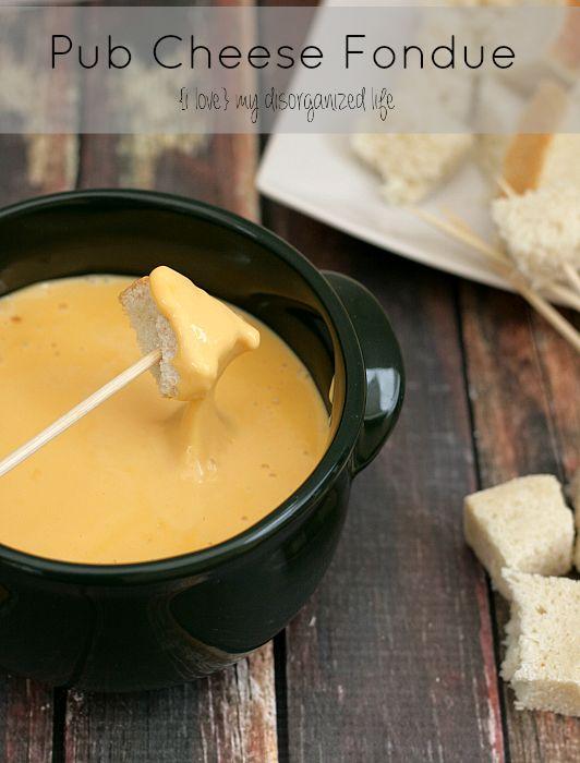 50 Delicious Dips: Pub Cheese Fondue Recipe