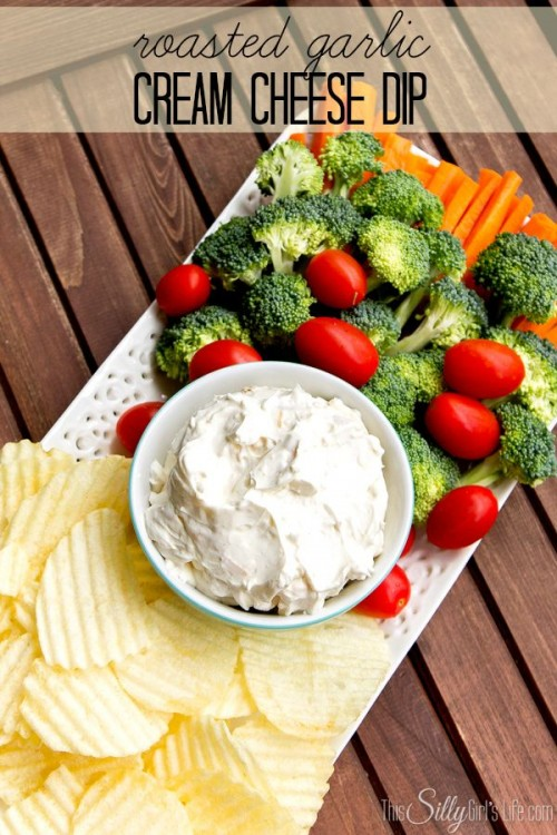 50 Delicious Dips: Roasted Garlic Cream Cheese Dip