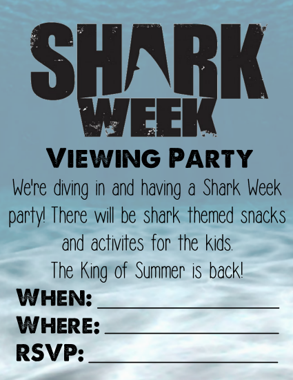 Shark Week 2014 Viewing Party Invitation