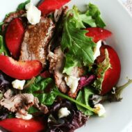 Steak & Raspberry Jewel Plout Salad