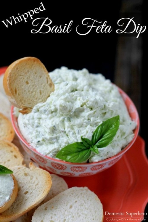 50 Delicious Dips: Whipped Basil Feta Dip