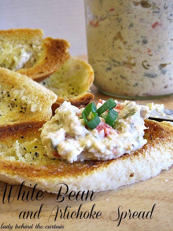 50 Delicious Dips: White Bean and Artichoke Spread