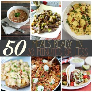 50 Meals Ready in 30 Minutes or Less SQUARE