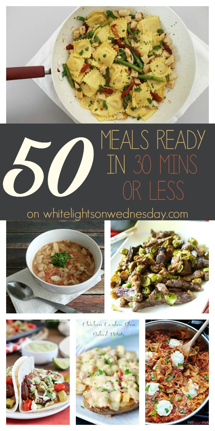 50 Meals Ready in 30 Minutes or Less