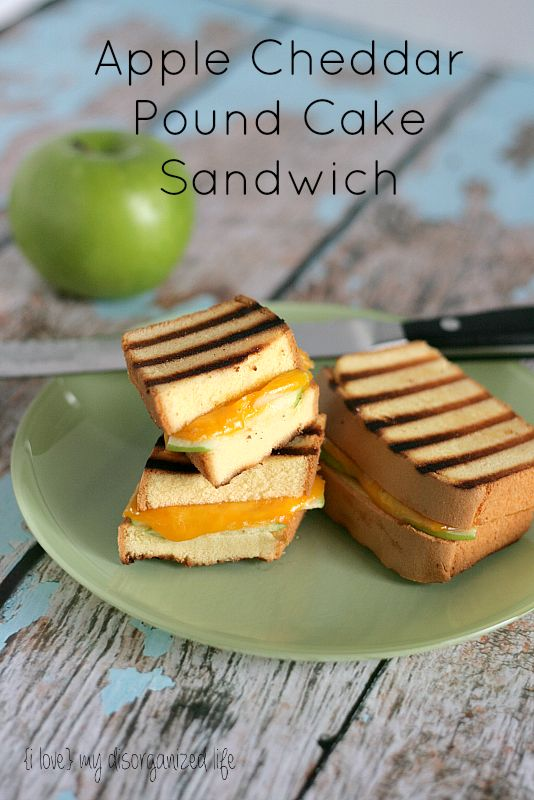 Apple Cheddar Pound Cake Sandwich