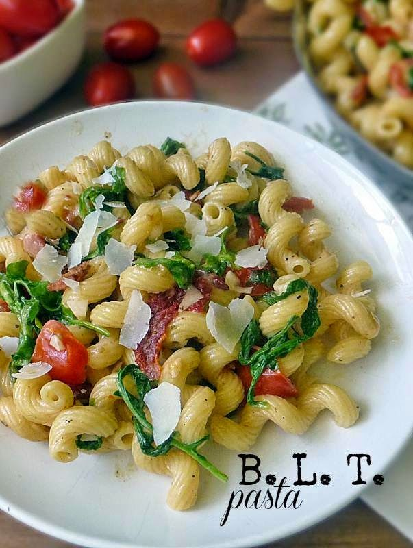Bacon Lettuce and Tomato Pasta
