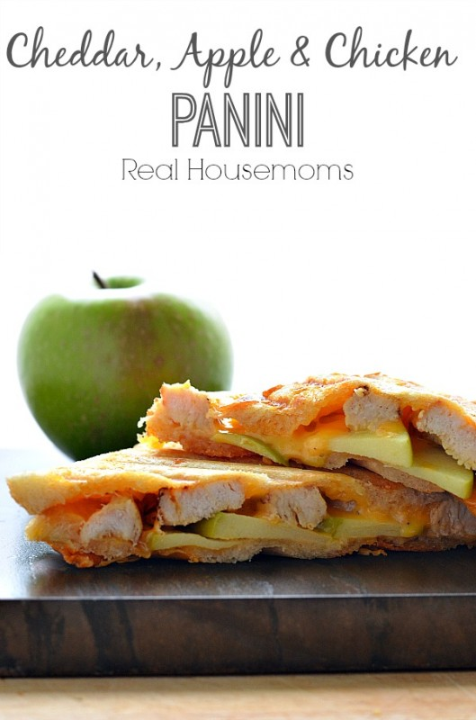 CHEDDAR, APPLE & CHICKEN PANINI