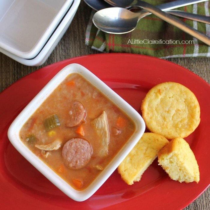Cajun Chicken & Sausage Soup