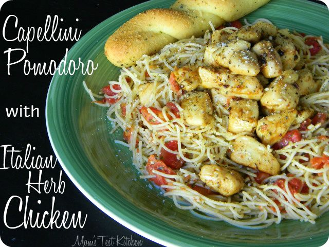 Capellini Pomodoro with Italian Herb Chicken