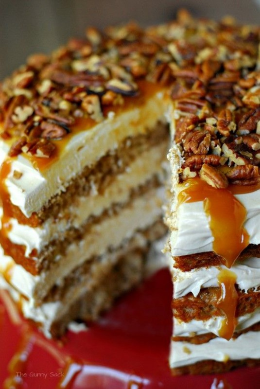 Caramel Apple Mousse Cake