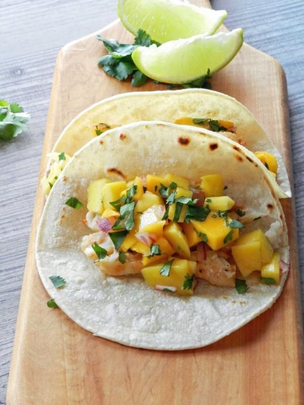 Fish Tacos with Papaya Mango Salsa
