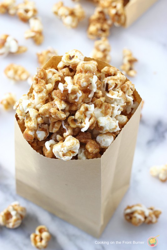 Pumpkin Spice Popcorn | White Lights on Wednesday