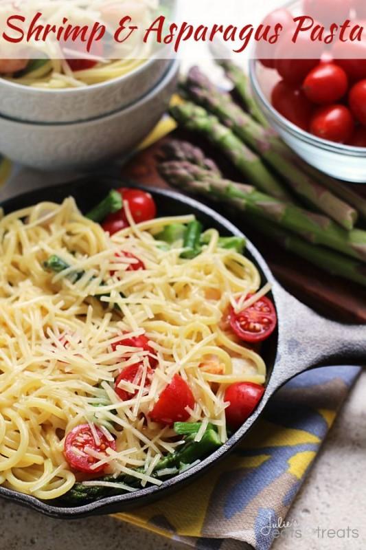 Shrimp & Asparagus Pasta
