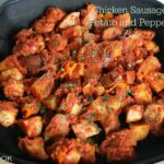 Chicken Sausage, Potato & Pepper Bake