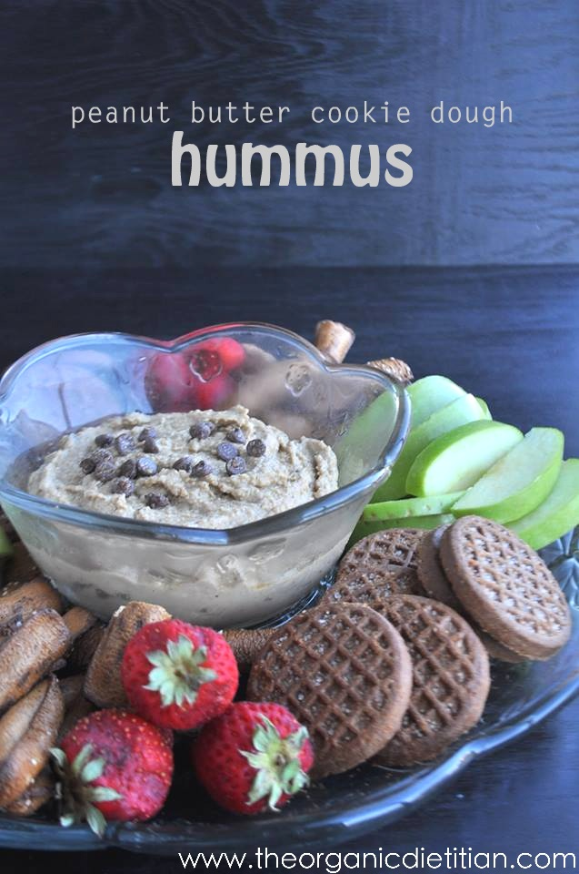 Peanut Butter Cookie Dough Hummus | White Lights on Wednesday