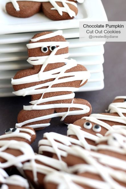 Chocolate Pumpkin Cut Out Cookies