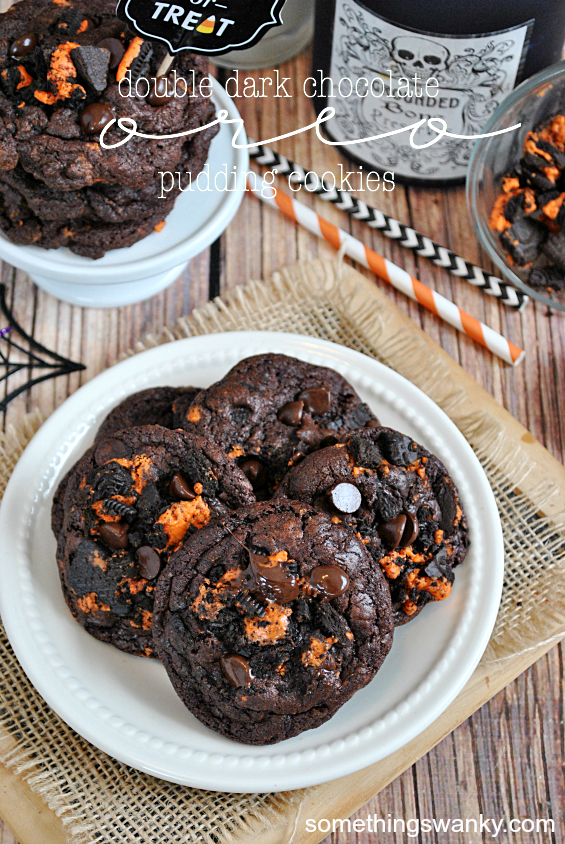Double Dark Chocolate Oreo Pudding Cookies