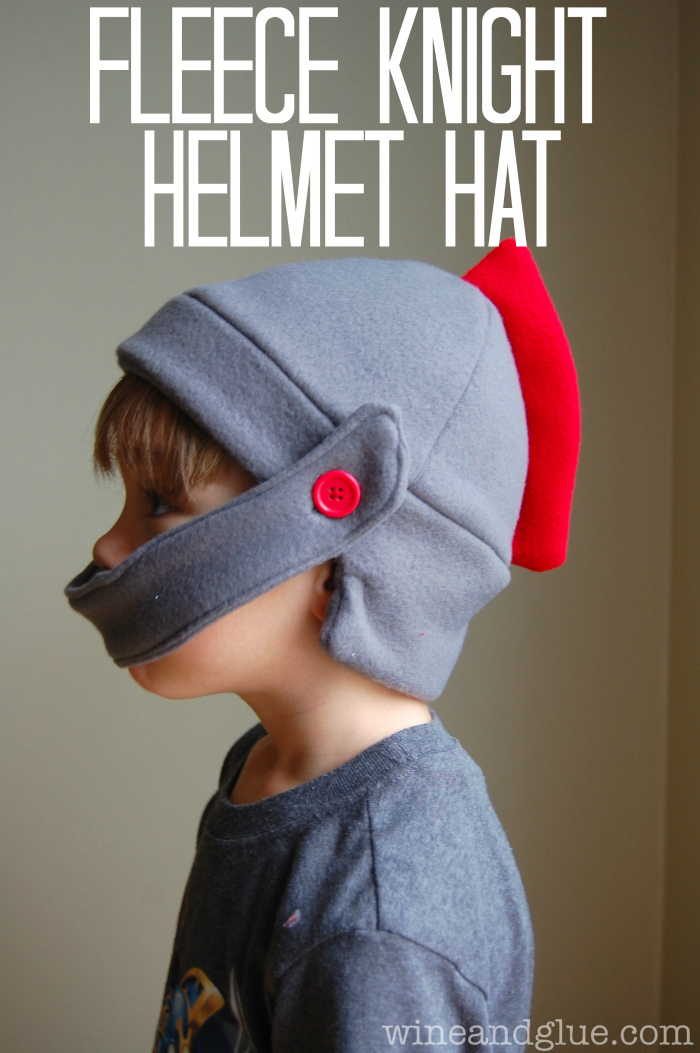 Fleece Knight Helmet with Free Pattern