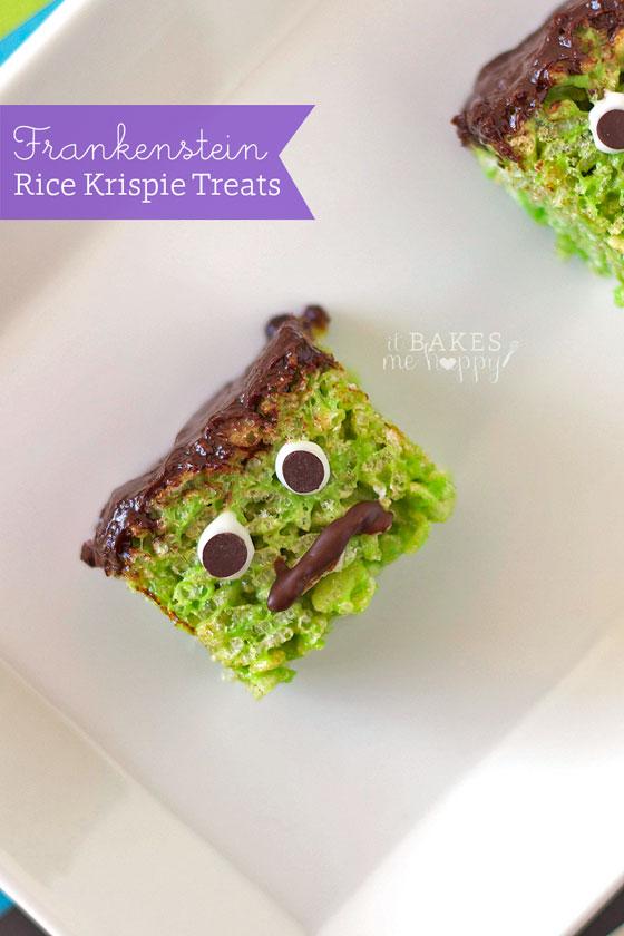 Frankenstein Rice Krispie Treats | White Lights on Wednesday