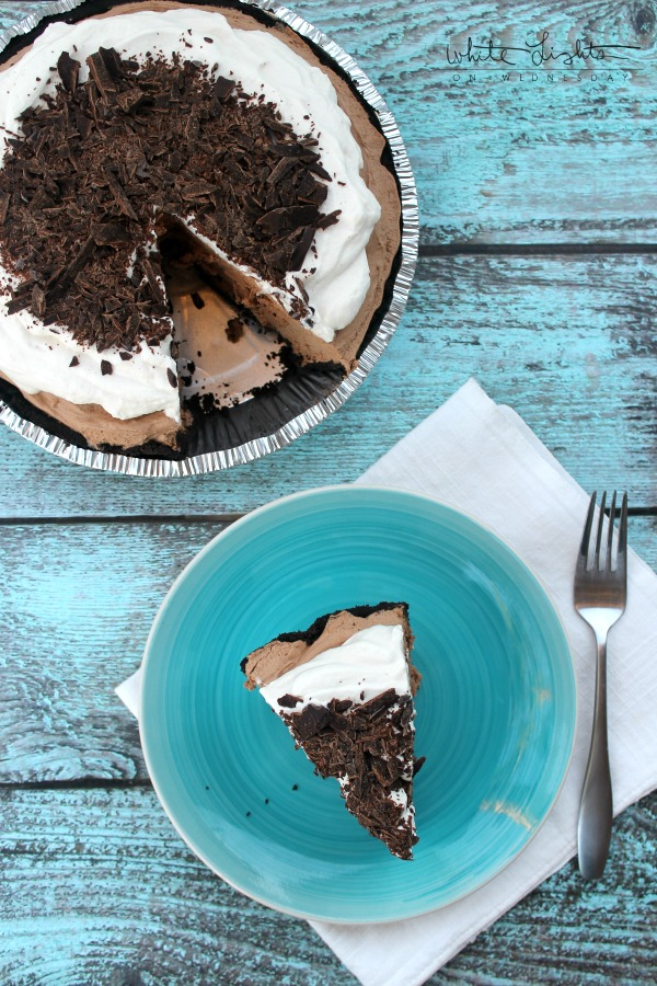 French Silk Pie  | White Lights on Wednesday